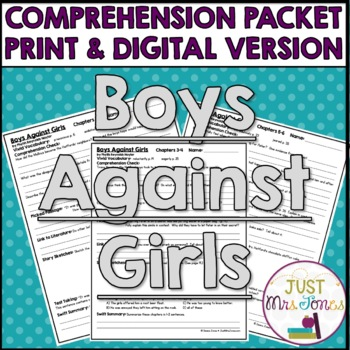 Boys Against Girls Comprehension Packet
