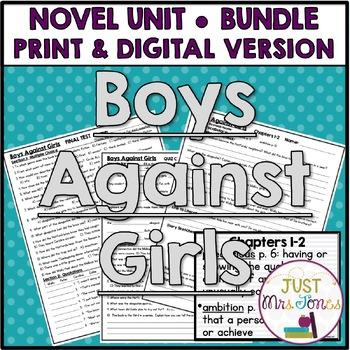 Boys Against Girls Novel Unit