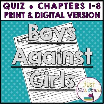 Boys Against Girls Quiz 1 (Ch. 1-8)