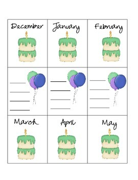 Boys Birthday Chart Pack