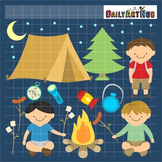 Boys Camping Clip Art - Great for Art Class Projects!