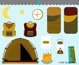 Boys camping clipart commercial use