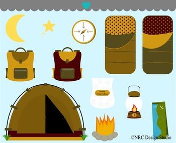 Boy's Camping Trip Clip Art