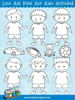 Boys Clip Art Collection
