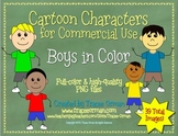 Boys Color Cartoon Graphics Clip Art for Commercial Use