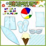 $1.00 BARGAIN BIN - Boys Days of Summer Clip Art