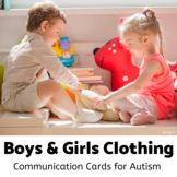 Clothing Unit, Boys and Girls Clothes Flashcards