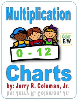 Boys & Girls Multiplication Charts (0-12) - Color & B/W