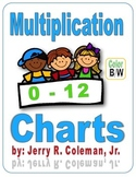 Boys & Girls Multiplication Charts (0-12) - Color & B/W
