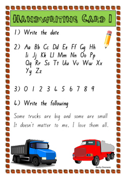 Boys Junior Handwriting Pack (New Zealand Basic font.)