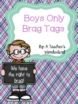 Boys Only Brag Tags