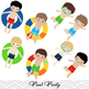 Boys Pool Party Clip Art Boys Swim Party Clip Art Summer Swim Pool Party 00198
