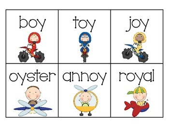 Boys & Their Toys! {An /oi/ and /oy/ Vowel Diphthongs Packet}