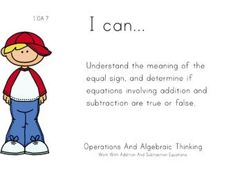 Boys Theme 1st grade math Common Core Posters first Grade Standards