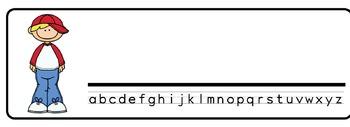 Boys Theme Desk Nameplates (Set of Four)
