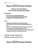 Boys Vs. Girls Reading Challenge
