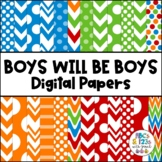 Boys Will Be Boys Digital Paper Pack