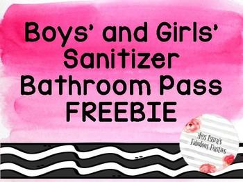 Bathroom Pass (Watercolor) FREEBIE