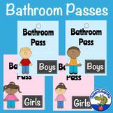Boys and Girls Bathroom Passes