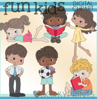 0c7600a73 Boys and Girls Clipart by Dorky Doodles