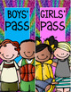 Boys' and Girls' Passes Glitter Rainbow Theme