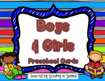 {$1 Deal} Boys and Girls: Preschool Cards