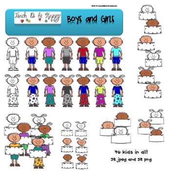 Boys and Girls clip art and graphics