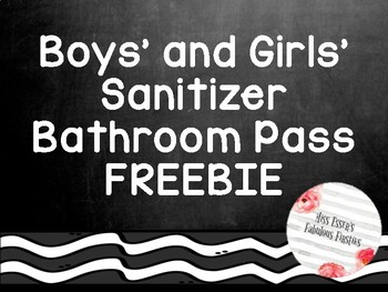 Bathroom pass {Chalkboard Theme} FREEBIE