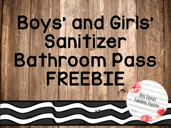 Bathroom pass {Rustic Theme} FREEBIE