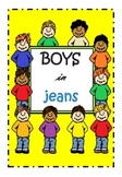 Boys in Jeans Clipart