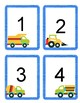 VROOM!! Boy Number Flash Cards #1-20. Fun Construction Trucks.