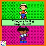 Boys vs. Girls Category Sorting
