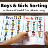 Boys and Girls Sorting Activity for Special Education