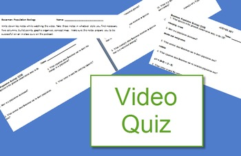 Bozeman Ecosystems quiz (population ecology video)