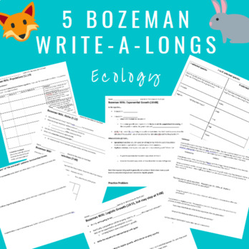 Bozeman Population Ecology Video WALs (Write-a-Longs)- set of 5