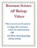 Bozeman Science AP Biology Lab 11 Animal Behavior Video Quiz or Worksheet wKEY
