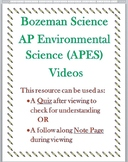 Bozeman Science AP Environmental APES Video 012 Population Ecology Quiz