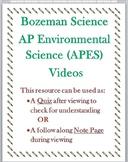 Bozeman Science AP Environmental Science APES Video 001  Quiz or WS  wKEY
