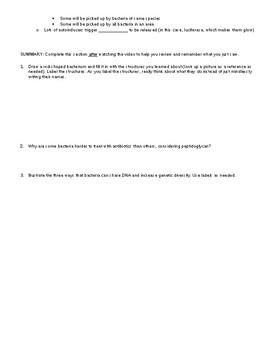 Bozeman WAL (Write-a-Long)- Bacteria (no key)