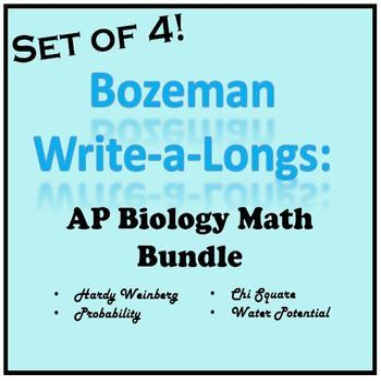Bozeman WAL (write-a-long) AP Bio Math Bundle
