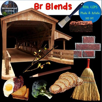 Br Blends Clip Art Phonics Photo & Artistic Digital Photo Stickers