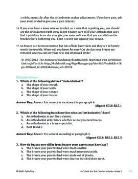 Braces - Informational Text Test Prep