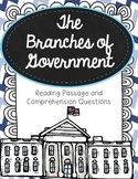 Branches of Government Reading Passage and Comprehension Q
