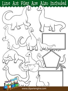 Brachiosaurus Clip Art Collection