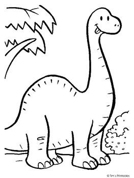 Brachiosaurus Coloring Page Pdf By Tims Printables Tpt