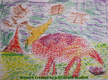 Brachiosaurus with Texture Art Lesson