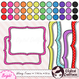 Bracket Frame Clipart Bundle, with chevron, stripes & polka-dots