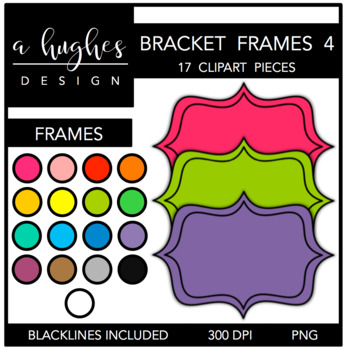 Bracket Frames 4: Filled {Graphics for Commercial Use}