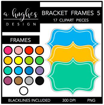 Bracket Frames 5: White Outline {Graphics for Commercial Use}