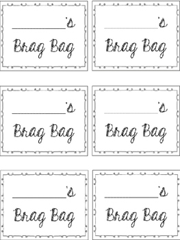 Brag Bag Activity